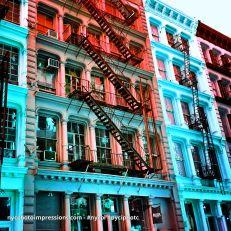 New York City Photos   Colorful Street Photo   Soho Building Street Photo 4x4 Color